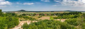 Panorama okolicy widziana z kopalni piasku nad naszym terenem